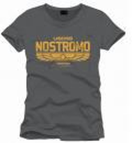 ALIEN - T-Shirt Nostromo Logo Officiel Grey (M)