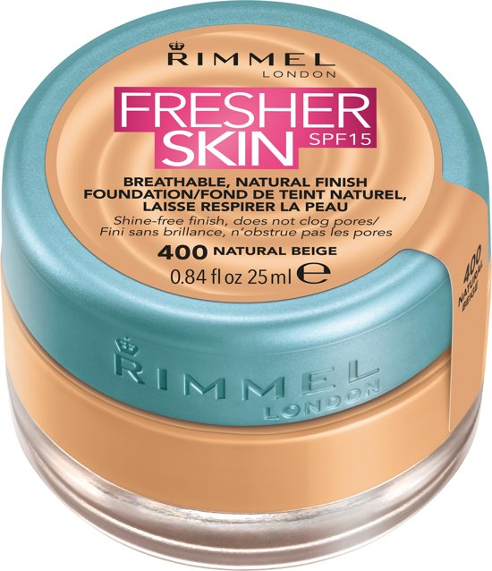 Rimmel London Fresher Skin - 400 Natural Beige - Foundation