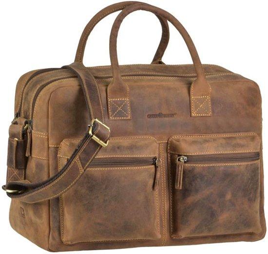 a336351aa21 bol.com | GreenBurry Austin - grote werktas van vintage bruin ecoleer