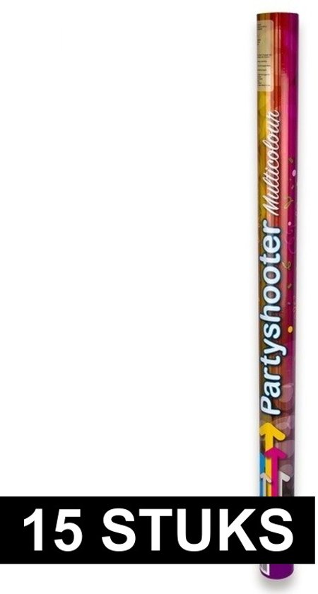 15 party confetti shooters 80 cm - party popper confetti kanon