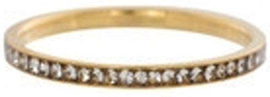 IXXXI Vulring zirkonia crystal goudkleurig 2mm - maat 21