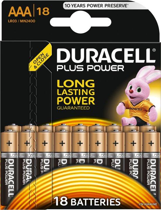 Duracell AAA Plus Power Alkaline Batterijen