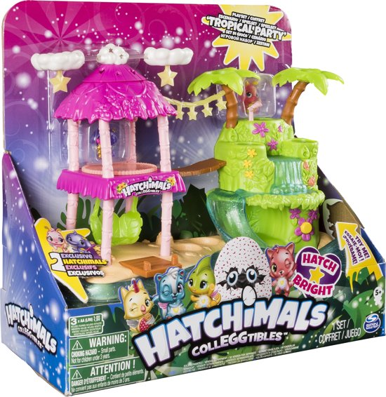 Hatchimals CollEGGtibles Illuma Eiland speelset - tropical party