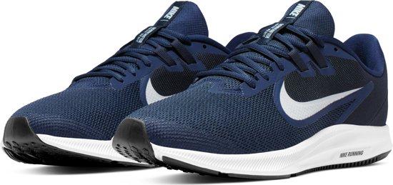 Nike Downshifter 9 Sportschoenen Heren - Midnight Navy/Pure Platinum-Dk Obsidian-Black-White