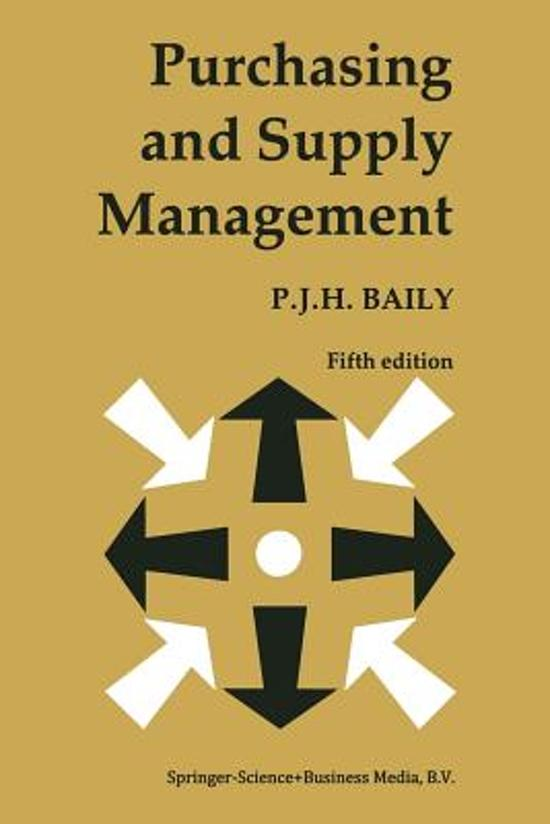Bol Purchasing And Supply Management Peter Baily