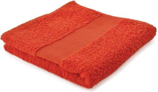 Arowell Badhanddoek Badlaken 100 x 50 cm - 500 Gram - Oranje - 3 stuks