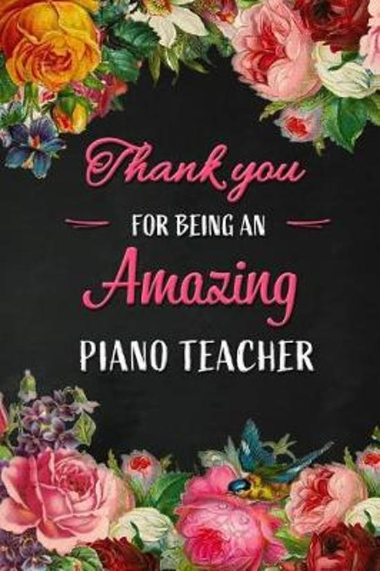 Thank you for being an Amazing Piano Teacher