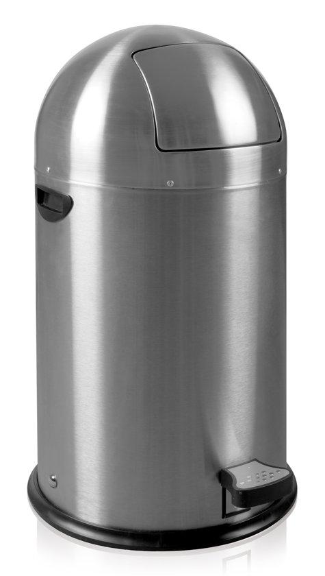 Eko Kickcan 33 Liter Rood.Eko Kickcan Prullenbak 33 L Mat Rvs