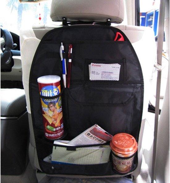 Auto stoel organiser - Car chair organiser - Auto hoes - Zwart