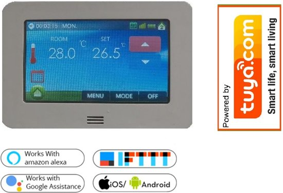 FCTS WIFI thermostaat incl. Externe sensor , Tuya compatible