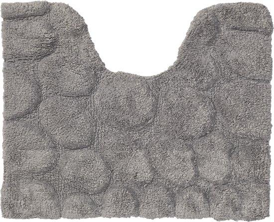 Wc Mat Sealskin.Sealskin Pebbles Wc Mat 50 X 60 Cm Grijs