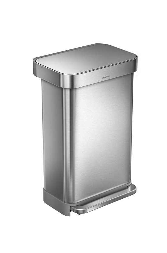 Simplehuman Rectangular Liner Pocket 45 Liter RVS