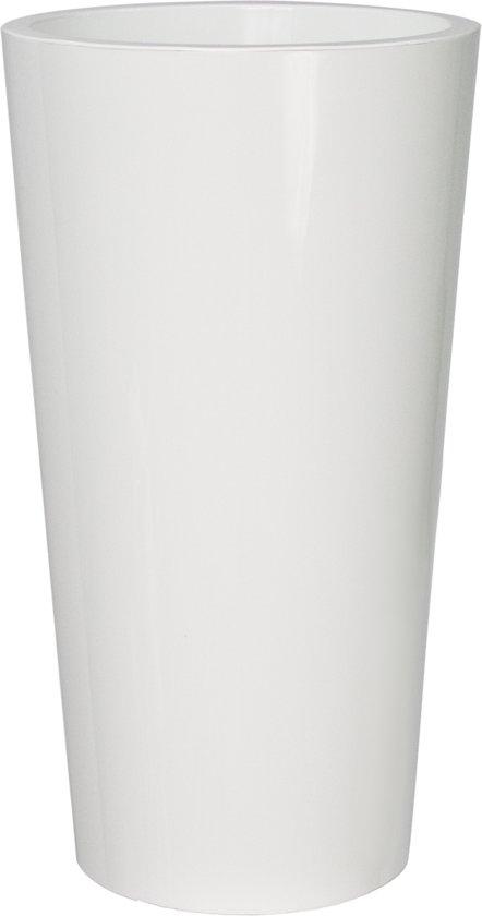Witte Bloempot Vierkant.Bol Com Bloempot Buiten Hoog Rond Tuit 40cm Wit Euro3plast