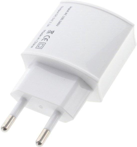 Shop4 Telefoon USB oplader met losse Micro USB Kabel 2.1A