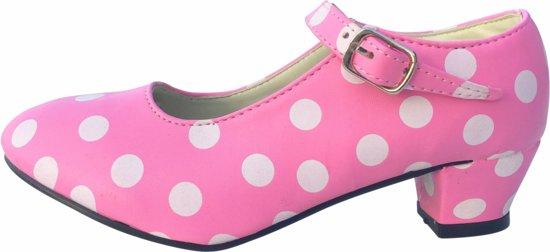 Spaanse prinsessen schoenen roze wit maat 29 (binnenmaat 18,5 cm) bij jurk