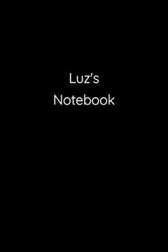 Luz's Notebook: Notebook / Journal / Diary - 6 x 9 inches (15,24 x 22,86 cm), 150 pages.