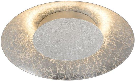 Lucide FOSKAL - Plafonnière - Ø 34,5 cm - LED - 1x12W 2700K - Zilver