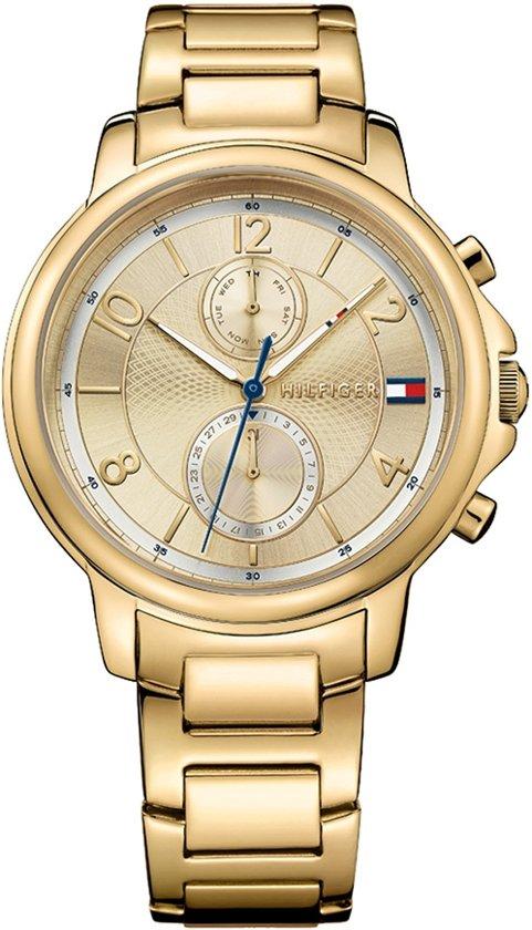 Tommy Hilfiger TH1781821 horloge dames - goud - edelstaal doubl�