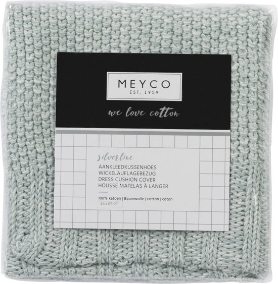 Meyco Silverline Relief Mixed aankleedkussenhoes - stone green
