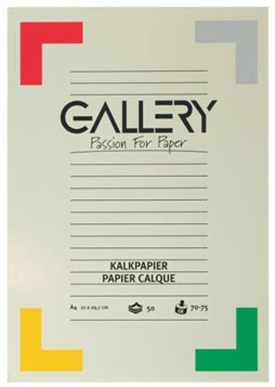bol | gallery kalkpapier formaat 21 x 297 cm (a4) blok van 50 vel
