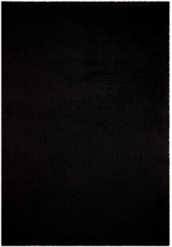 Vloerkleed Shaggy Plus 1074 Black 200x200 cm-Round