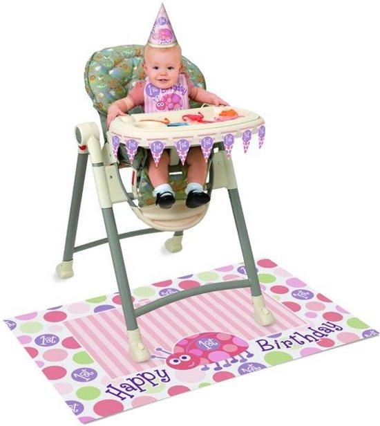 Bolcom Kinderstoel Versiering 1e Verjaardag Roze