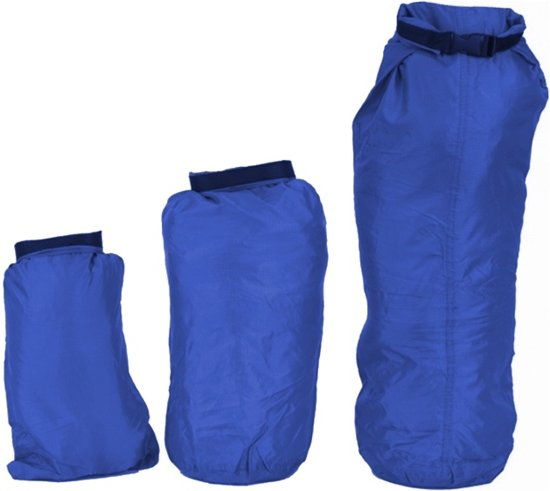 Summit - Regenhoezenset - Dry sacks set - 2/4/8 Liter 3-delig - Blauw