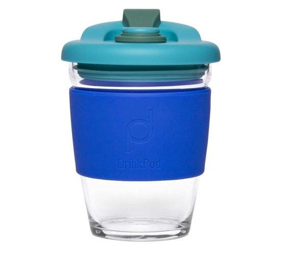 Herbuikbare Koffiebeker - 340ml - Zwart - Glas - Pioneer