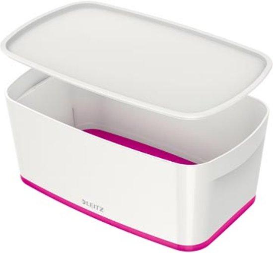 Leitz MyBox® opbergdoos - met deksel - roze/wit