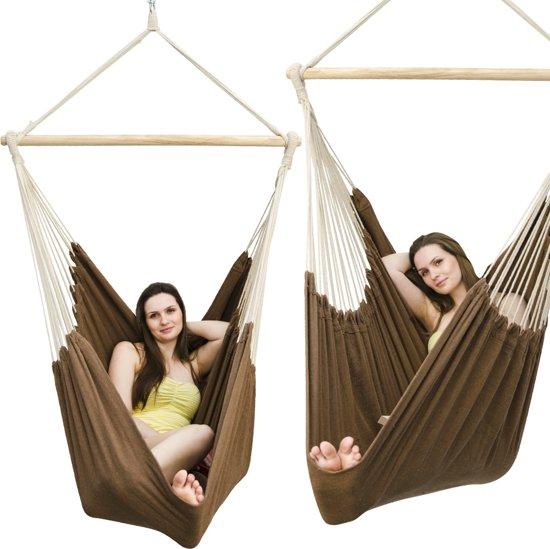 Hangstoel Voor 2 Personen.Xxl Hangstoel 185x130cm Hangstoel 2 Personen Hangstoel Tot 150kg Katoenen Hangmat 360 Swifel