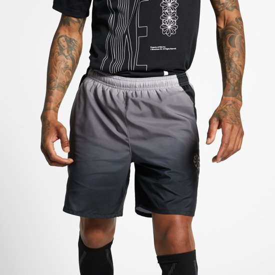 Nike Challenger Short 7In Pr Sportbroek Heren - Gunsmoke/Black/(Reflective Silv) - Maat XL
