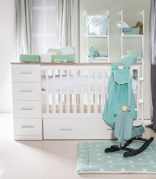 Ledikant En Commode In 1.Bebies First Sandy Ledikant 60x120 Cm Commode Wit Grijs