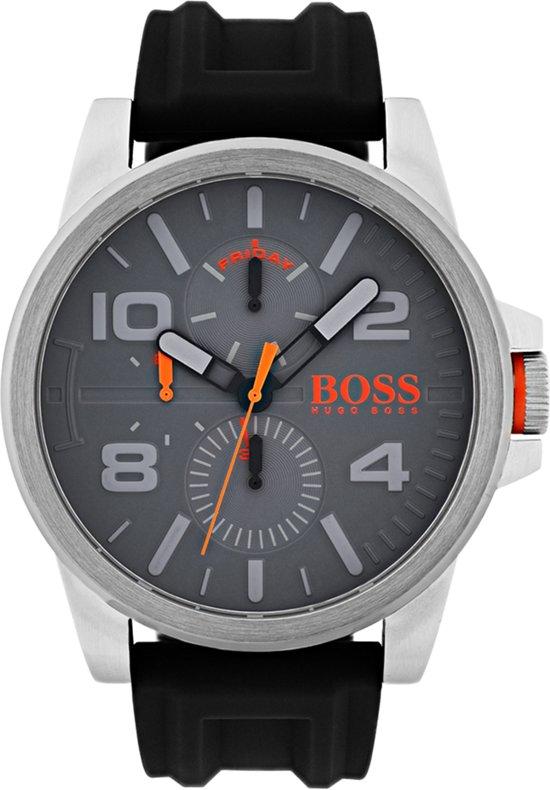 Boss Orange HO1550007 Detroit Horloge - Rubber - 48mm - Grijs