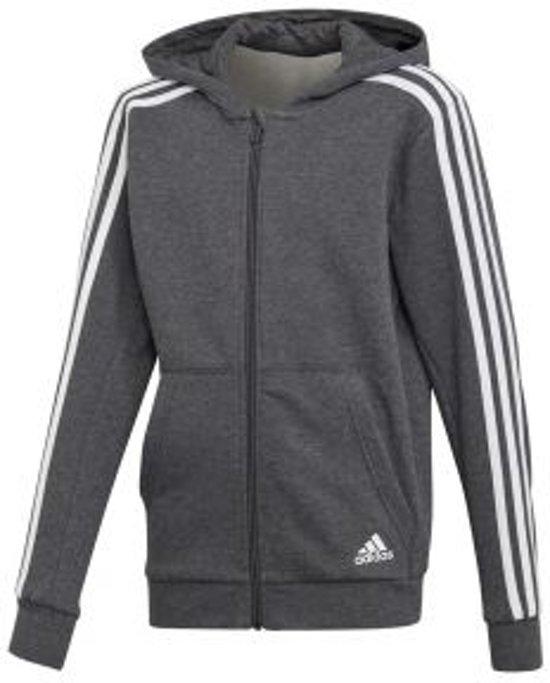 adidas - YB 3-Stripes Full Zip Hoodie - Kinderen - maat 140