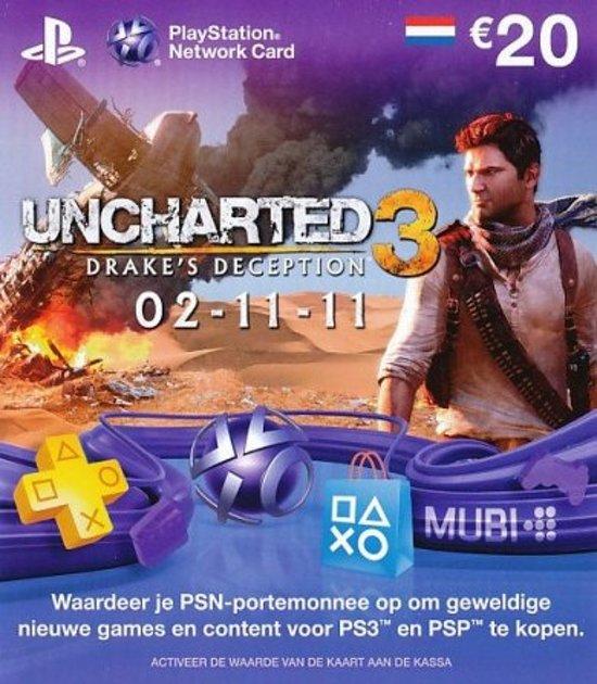 Sony PlayStation Uncharted 3 Voucher Kaart E20,- Nederland PS3 kopen