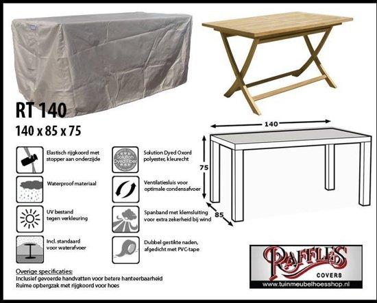 RT140 Rechthoekige Tafelhoes,  past over tafel van max. 130 x 85 cm