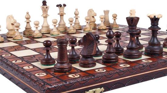 Sunrise Junior- Luxe schaakspel schaakbord (Hout)