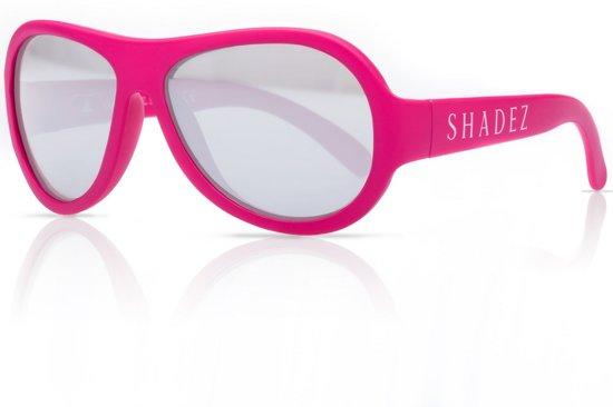 2baa6c03753a38 SHADEZ - Onbreekbare kinder zonnebril - UV 400 zonnebril kind - Roze met  Zilverkleurige spiegelglazen -