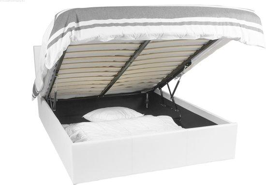 Bedden Met Opbergruimte.Bol Com Ottoman Bed Frame Met 611 Liter Opbergruimte 140x190 Wit