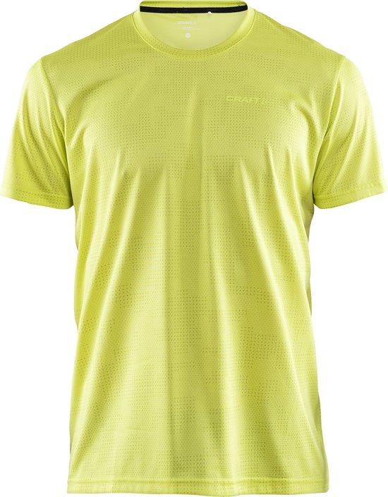 Craft Eaze Ss Tee M Sportshirt Heren - P Camo Lime