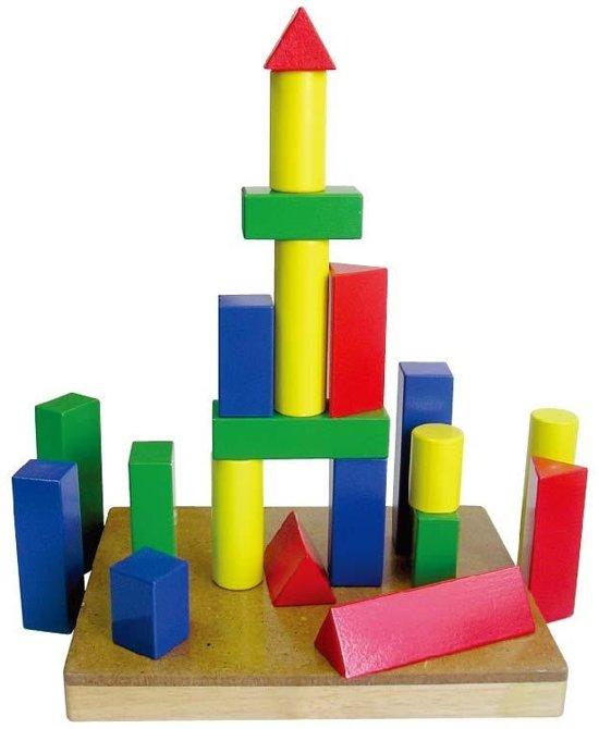 Viga Toys Blokkenset Vormen Hout 21-delig Multicolor