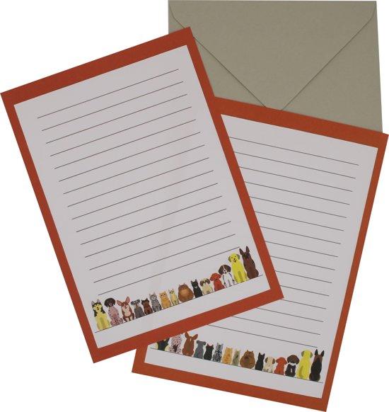 LeuksteWinkeltje Briefpapier Rode / roze bloesem 8 vellen - voor volwassenen