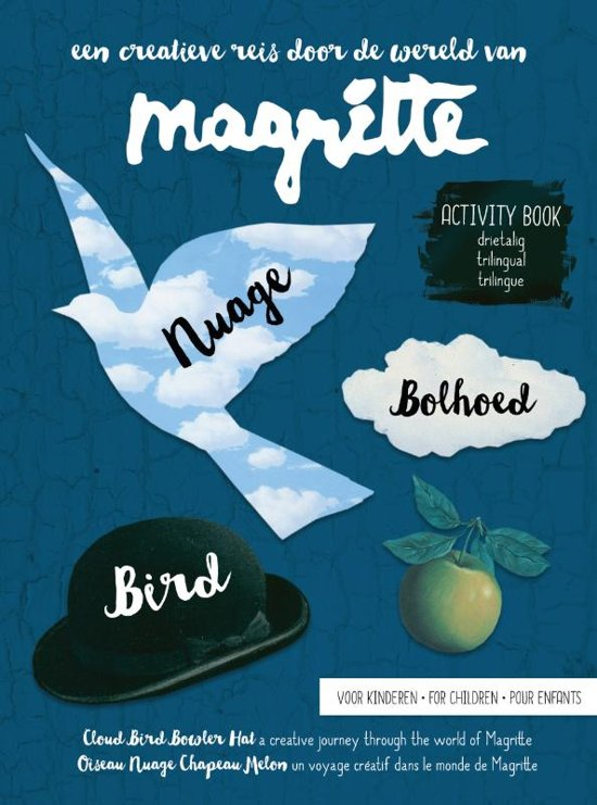 Magritte activity book voor kinderen - nuage, bolhoed, bird