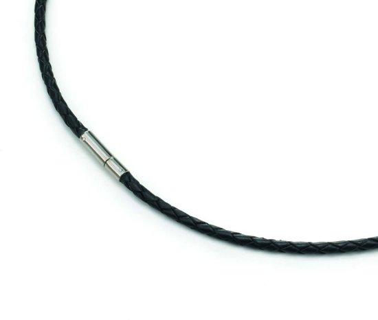 Boccia Titanium 0835-01 Collier - Leer - Zwart