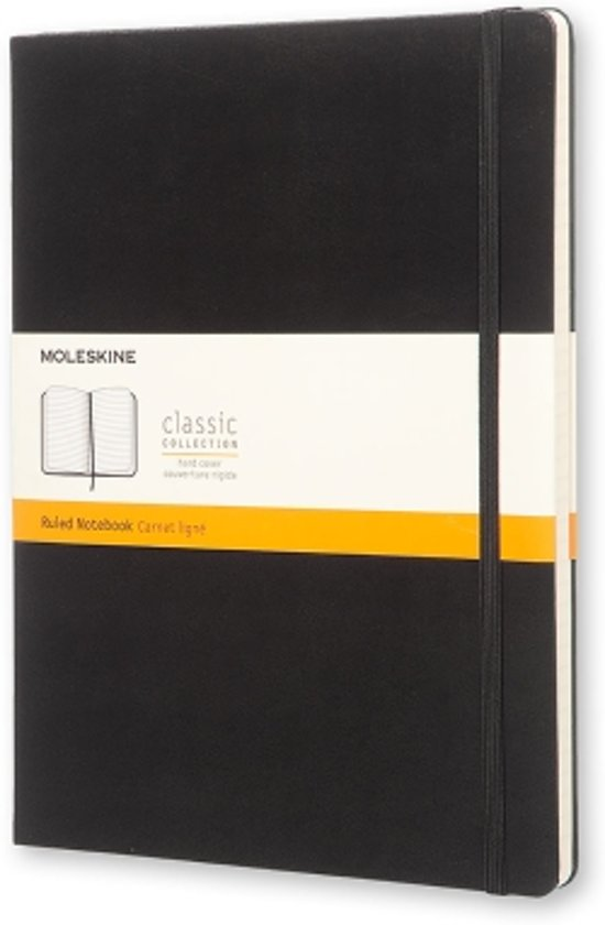 Moleskine Classic Notebook - XL - Ruled - Hard Cover - Black