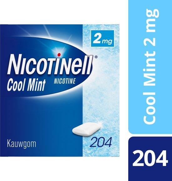 Nicotinell cool mint 2 mg kauwgom - stoppen met roken - 204 stuks