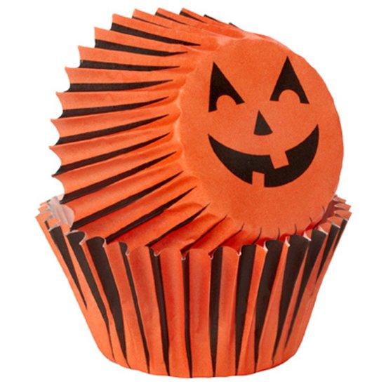 Halloween 2019 Pompoen.Bol Com Papieren Mini Cupcake Vormpjes Halloween Pompoen