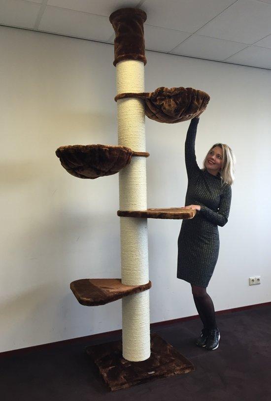 Krabpaal Maine Coon Tower Bruin voor grote katten van RHRQuality
