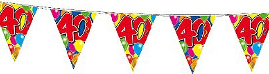 vlaggetjes 40 jaar bol.| Leeftijd vlaggenlijn 40 jaar, Folat | Speelgoed vlaggetjes 40 jaar