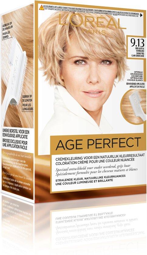 L'Oréal Paris Excellence Age Perfect 9.13  - Zeer Licht as Goudblond - Haarverf